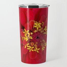 Red, RED Zinnia Travel Mug