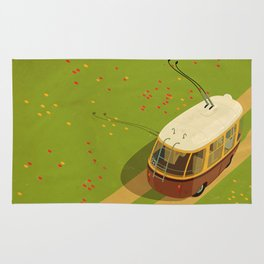 Trolley Rides The Field Rug