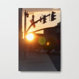 American Sunset Metal Print