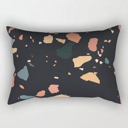Dark Terrazzo Marble Rectangular Pillow