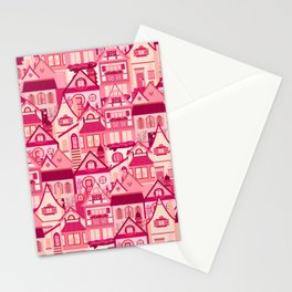 Pink Little Town Stationery Cards