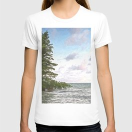 Huron leaning pine T-shirt