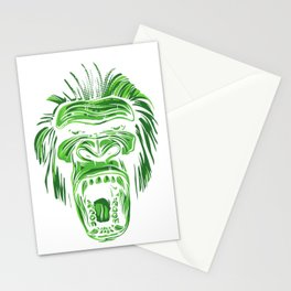 GORILLA KING KONG - Green Stationery Cards