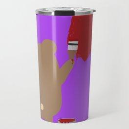 Brown Bear painting Travel Mug
