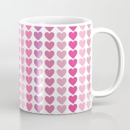 Shades of Pink and Purple Hearts Repeated Pattern 111 Coffee Mug