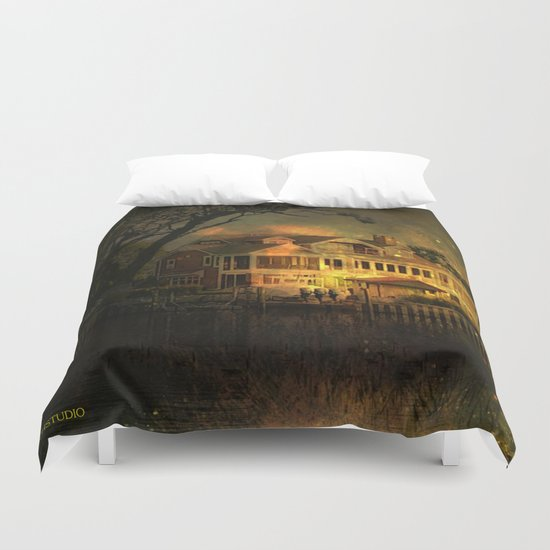 Spooky Boathouse Duvet Cover