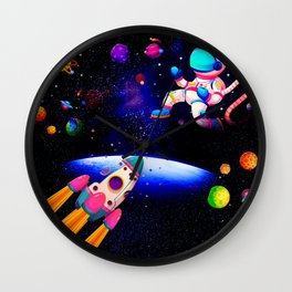 Earth To Star Station Wall Clock