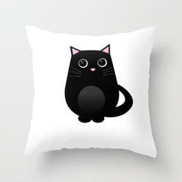 The Funny Cat Makes Meow Gift Throw Pillow