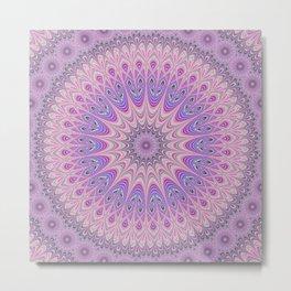 Beautiful detailed Mandala pink purple #mandala Metal Print