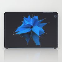 polygon iPad Cases featuring Blue Polygon by error23