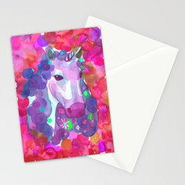 Enchanted Forest Unicorn - Pink Palette Stationery Cards