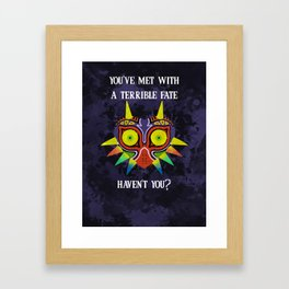 Majora's Mask Splatter (Quote) Framed Art Print