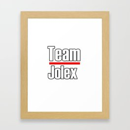 Team Jolex- Greys Anatomy Framed Art Print