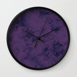 Purple marble dark Wall Clock
