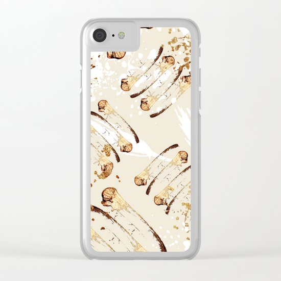 Feather peacock gold #4 Clear iPhone Case