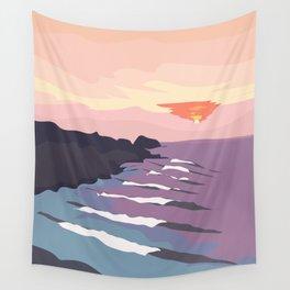 Chicama, Peru Ocean Waves at Sunset Wall Tapestry