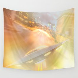 Downtown UFO Wall Tapestry