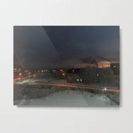 Industrial landscape, winter Metal Print