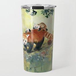 Red Panda Family Travel Mug