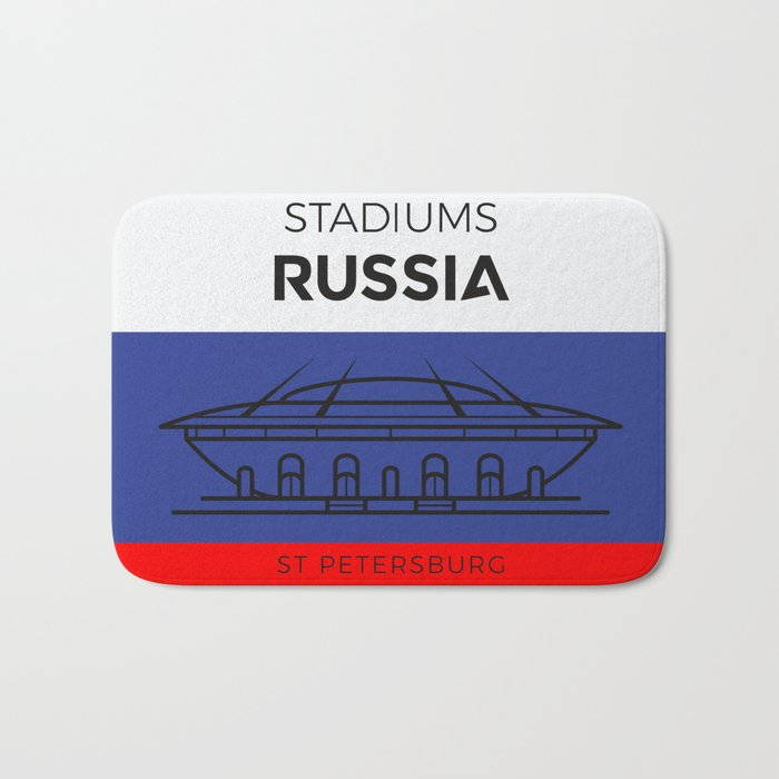 Russia Stadiuns | St. Petersburg Bath Mat