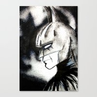 bat man Canvas Prints featuring bat man by Tufty Cookie