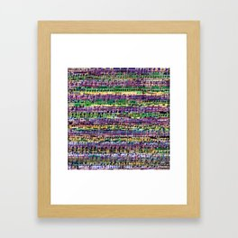 Beethoven Op 29 - Rainbow Music Collage Framed Art Print