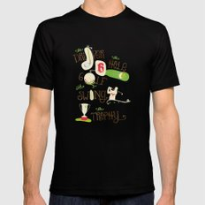 Golf  Black Mens Fitted Tee SMALL