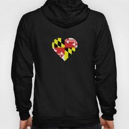Maryland Flag Heart Hoody