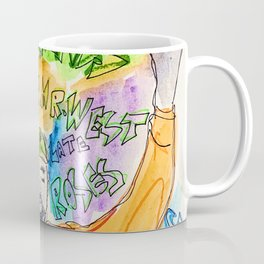 west,music,rapper,fatherstretch hands,rap,art,drawing,painting,room decor,wall art,frame,lyrics,graffiti,street,america,singer,poster Coffee Mug