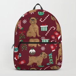 Brussels Griffon christmas holiday pet pattern stockings presents dog breed gifts Backpack