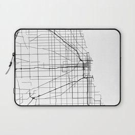 Minimal City Maps - Map Of Chicago, Illinois, United States Laptop Sleeve