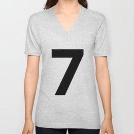 Number 7 (Black & White) Unisex V-Neck