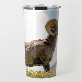 Bighorn Sheep On Humboldt Peak, Colorado Travel Mug