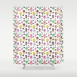 Ice Cream Flavors Shower Curtain