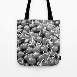 cherries pattern reacbw Tote Bag