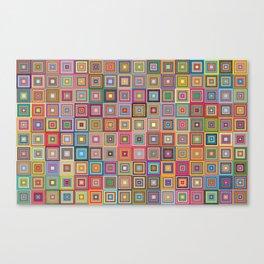 retro squares Canvas Print