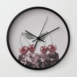 Cherry Mugshot Wall Clock