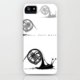 Just moved.  (French Horn) iPhone Case