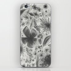 Floral Charcoal Sketch iPhone & iPod Skin