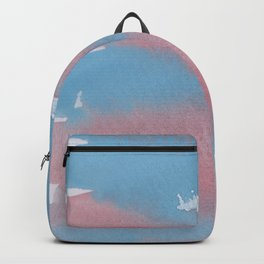 24  | 1903011 Watercolour Abstract Painting | Muted Colours Backpack