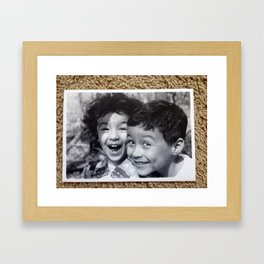 Dimples and Curls II Framed Art Print