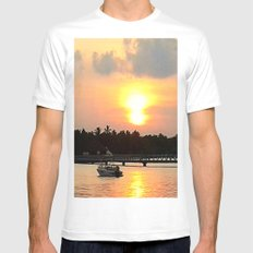 Maldives - Afterglow White MEDIUM Mens Fitted Tee