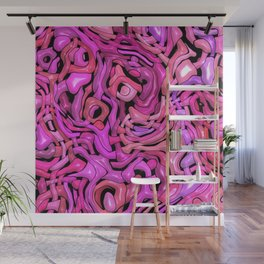 Intricate Emotions, hot pink Wall Mural
