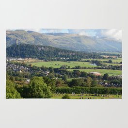 Stirling Castle View of Wallace Monument Rug