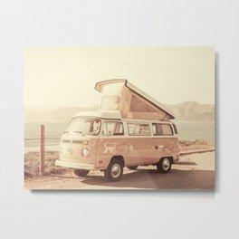 Vintage Van (Color) Metal Print