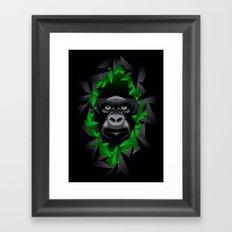 Shy Green Eyes Framed Art Print