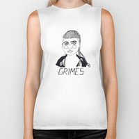 grimes Biker Tanks featuring Grimes by ☿ cactei ☿
