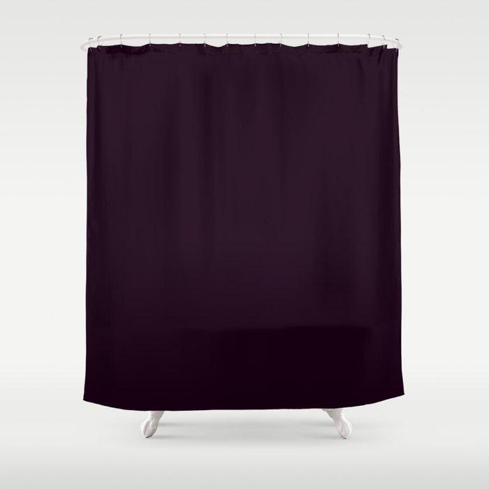 Simply Deep Eggplant Purple Shower Curtain