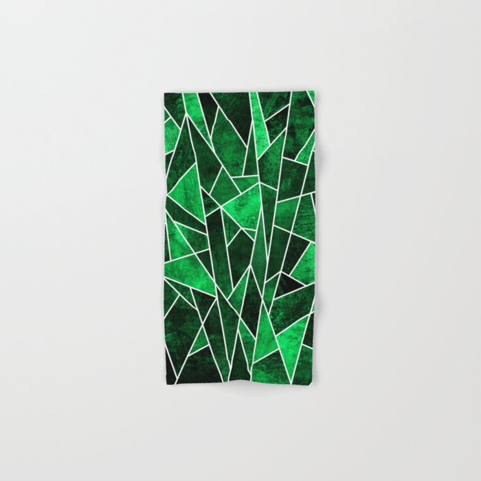 Shattered Emerald Hand & Bath Towel