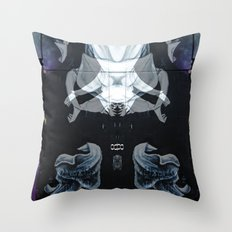vicious little painter Throw Pillow